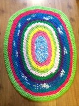 T-Shirt Yarn Crochet Rug