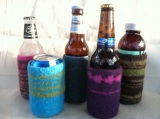 Knitting a Beer bottle cozy