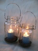 A visit to Pottery Barn inspires a new project: Hanging MasonJars