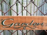 A Garden Sign to help Chase away theBlues