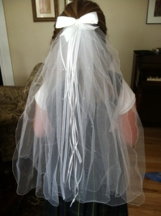 First Communion Veil Tutorial